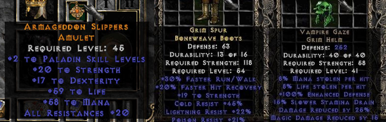Diablo  Crafted Boots